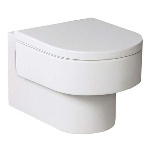 Roca Happening Wall Hung Toilet - Soft Close Seat - White